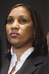 In this July 28, 2011 file photo, Nafissatou Diallo, who accused former IMF Head Dominique Strauss-Kahn of sexually attacking her.