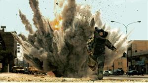 Jeremy Renner is shown in a scene from The Hurt Locker. Maureen Dowd claims the film's director was granted access to secrets about the operation that took down Osama bin Laden.