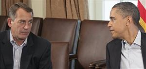 In this July 23, 2011 file photo, President Barack Obama meets with House Speaker John Boehner of Ohio in the Cabinet Room of the White House in Washington.