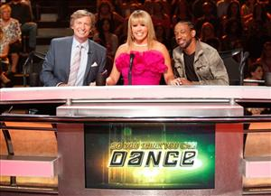 In this image released by Fox, judges from left, Nigel Lythgoe, Mary Murphy and Lil' C, from the dance competition series So You Think You Can dance, are shown on Aug. 4, 2011 in Los Angeles.