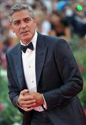 George Clooney arrives for the opening ceremony and the screening of 'The Ides of March' during the 68th Venice International Film Festival on August 31 , 2011.