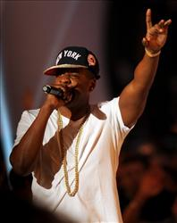 Jay-Z performs onstage during the 2011 MTV Video Music Awards.