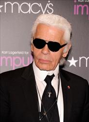 Designer Karl Lagerfeld visits Macy's Herald Square on September 6, 2011 in New York City.