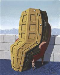 Hanging out, waiting for a furnace: Ren? Magritte's 'Perspective.'