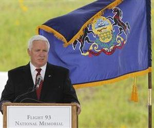 Gov. Tom Corbett of Pennsylvania delivers an address in this file photo.