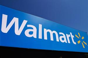 The Walmart logo in a file photo.