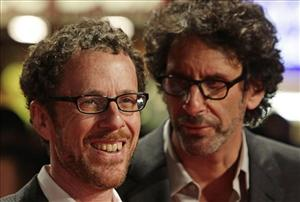 Directors  Joel (right) and Ethan Coen arrive for the London Film Festival screening of their film A Serious Man, at the Vue West End in Leicester Square, central London  Tuesday Oct. 27, 2009.