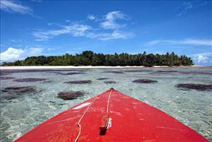 Pristine waters surround Tepuka Islet on Funafuti Atoll in Tuvalu.