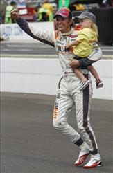 This May 29, 2011 file photo shows IndyCar driver Dan Wheldon, of England, after winning the Indianapolis 500.
