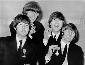 The Beatles: Paul McCartney, George Harrison, John Lennon and Ringo Starr.