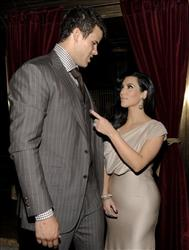 Newlyweds Kim Kardashian and Kris Humphries attend a party thrown in their honor at Capitale on Wednesday, Aug. 31, 2011 in New York.