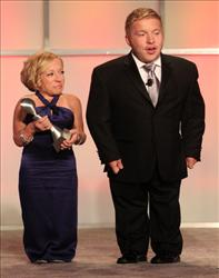 Jennifer Arnold  and Bill Klein appear at the Gracie Awards Gala at the Beverly Hilton Hotel earlier this year. Klein writes that dwarf tossing is wrong and should remain banned in Florida.