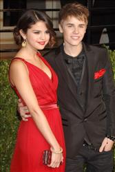 Justin Bieber and his lady love Selena Gomez make the scene at the Vanity Fair Oscar party in West Hollywood earlier this year.