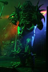 Cory Smoot performs as Flattus Maximus in a 2004 GWAR concert.