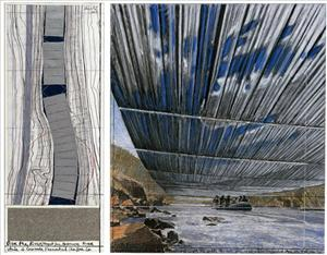 Rafters will be able to travel under the artwork, Christo says.