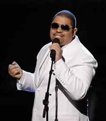 Rapper Heavy D, born Dwight Arrington Myers, in 2009.