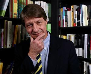 Author PJ O'Rourke poses for a portrait at Book Soup February 5, 2007 in Los Angeles, California.