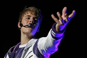 Pop sensation Justin Bieber performs during his My World Tour concert at Foro Sol in Mexico City, Saturday Oct. 1, 2011.