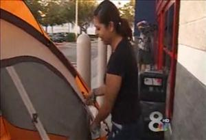 A Tampa woman is ready for Black Friday 9 days ahead of time in this frame grab from video.