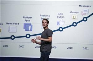 Facebook CEO Mark Zuckerberg talks about the site's history during a conference in San Francisco earlier this year.