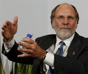 In this Oct. 20, 2009 file photo, then New Jersey Gov. Jon S. Corzine answers a question during an interview with the Associated Press, in Trenton, NJ.