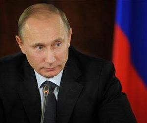 Russian Prime Minister Vladimir Putin attends a meeting of the Popular Front in Moscow, Russia, Thursday, Dec. 8, 2011.