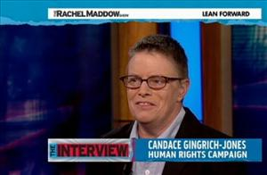 Candace Gingrich-Jones says she'll be voting for President Obama, no matter if she happens to share a little DNA with the Republican nominee.