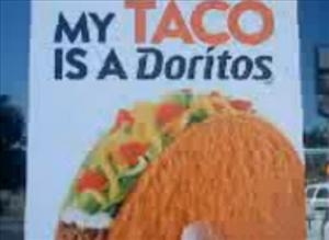 Screenshot of an ad for the Doritos taco.