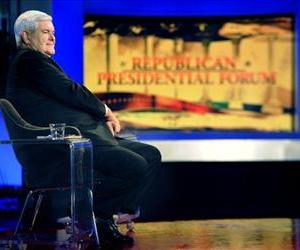 Newt Gingrich appears on the Republican Presidential Forum on Huckabee, on Fox News, Dec. 3, 2011.
