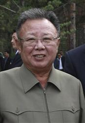 In this Aug. 24, 2011 file photo, North Korean leader Kim Jong Il, listens to Russian President Dmitry Medvedev.