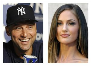 In these 2011 file photos, New York York Yankees' Derek Jeter and actress Minka Kelly are shown.