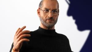 A promotional photo from In Icons of the Steve Jobs action figure.