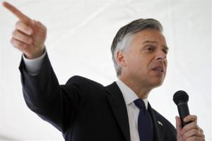 Jon Huntsman campaigns at Strong NH.