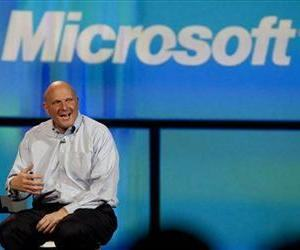 Microsoft CEO Steve Ballmer talks about Windows 8 during his keynote address at the 2012 International CES trade show Jan. 9 in Las Vegas.