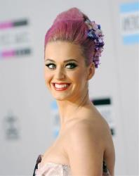 Singer Katy Perry arrives at the 39th Annual American Music Awards in Los Angeles.