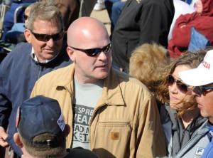 Samuel Joseph 'Joe the Plumber' Wurzelbacher  walks through the crowd at the Tea Party Express' 'Showdown in Searchlight,' rally March 27, 2010 in Searchlight, Nevada.