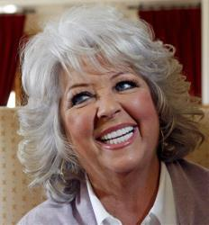 In this Dec. 30, 2010 photo, Paula Deen speaks in Pasadena, Calif.