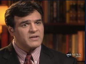 John Kiriakou speaks during an interview first broadcast on ABC's World News Monday Dec. 10, 2007.