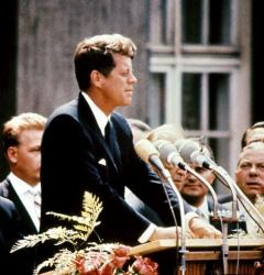 UNITED STATES:  John Fitzgerald Kennedy (1917-63), pictured in the 1960s in the USA. 09 November 1960, he was the first Catholic, and the youngest person, to be elected for Democratic party the president of the USA. 22 November 1963, Kennedy was assassinated while being driven in an open car through...