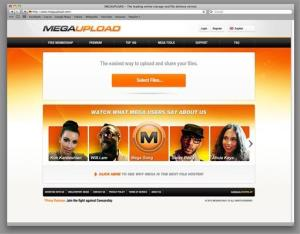 This undated image obtained by The Associated Press shows the homepage of the website Megaupload.com. Federal prosecutors in Virginia have shut down one of the world's largest file-sharing sites, Megaupload.com, and charged its founder and others with violating piracy laws.