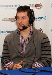 Tim Tebow is seen February 3, 2012 in Indianapolis, Indiana.