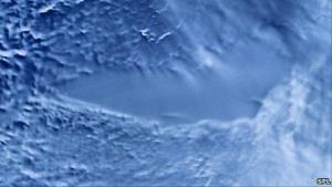 A NASA satellite image of Lake Vostok.