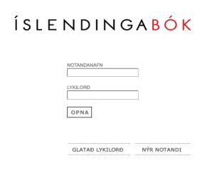 The front page of Islendingabok.