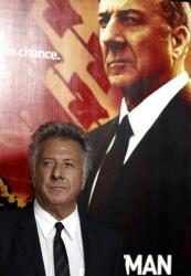 Dustin Hoffman poses at the premiere for the HBO television series 'Luck' in Los Angeles last month.