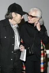 Lillian Bassman and Paul Himmel attend the viewing of MOMA's 'Fashioning Fiction in Photography Since 1990,' on April 22, 2004, in Queens.