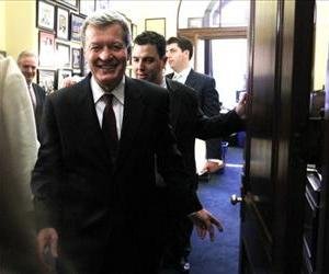 Max Baucus is seen on Capitol Hill in this file photo.