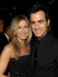 Jennifer Aniston and Justin Theroux attend the 64th Annual Directors Guild Of America Awards cocktail reception held at the Grand Ballroom at Hollywood & Highland on January 28, 2012 in Hollywood.