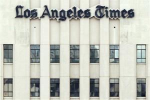 A 2008 photo of the Los Angeles Times building.