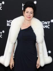 Sean Young arrives at the Montblanc Pre-Oscar brunch in LA.