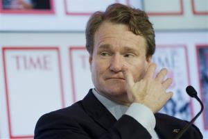 Brian T. Moynihan, CEO of Bank of America, speaks at the World Economic Forum in Davos, Switzerland, Wednesday, Jan. 25, 2012.